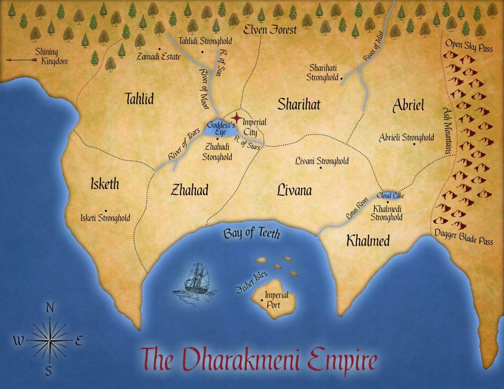 Dharakmeni Empire Map (Fatal Empire)