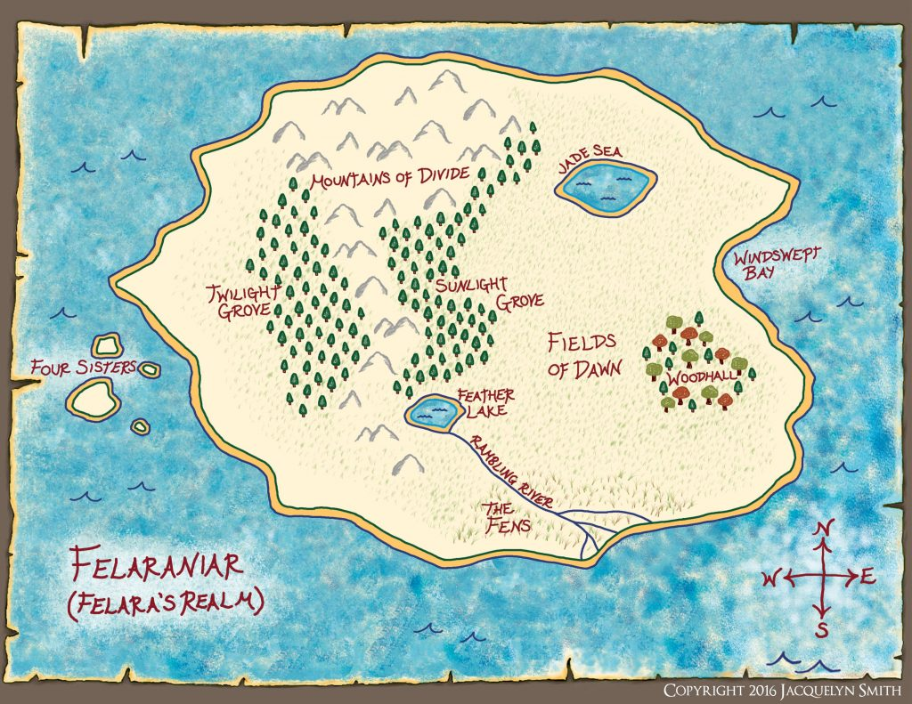 Felaraniar Map/Felara's Realm (The World of Lasniniar)