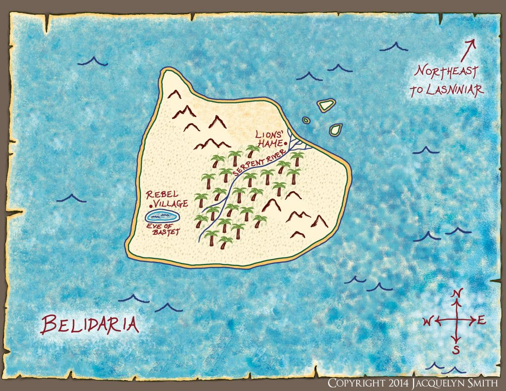 Belidaria Map (The World of Lasniniar)
