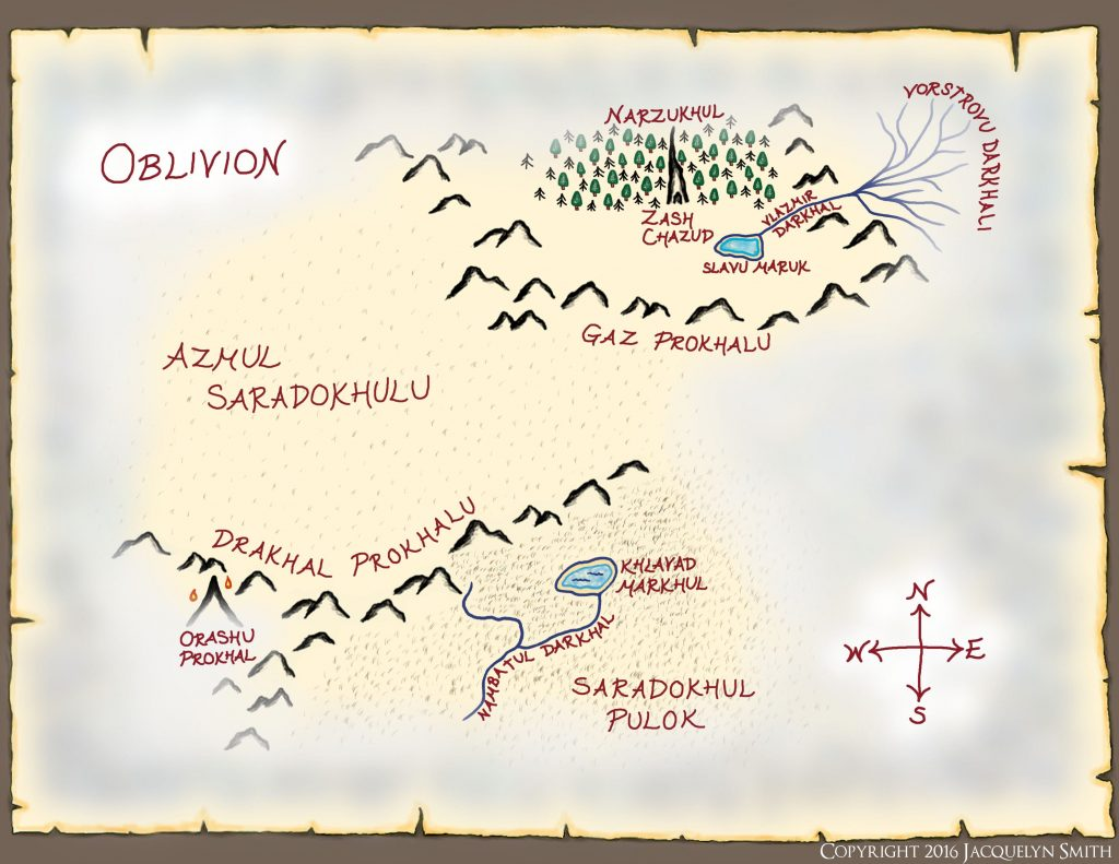 Oblivion Map (The World of Lasniniar)