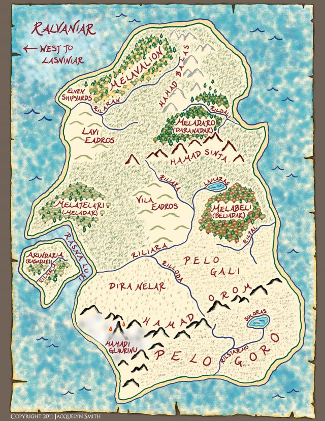 Ralvaniar Map (The World of Lasniniar)